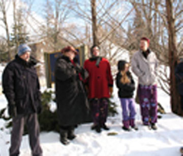 Abode Peace Pole Planting-January 11, 2008