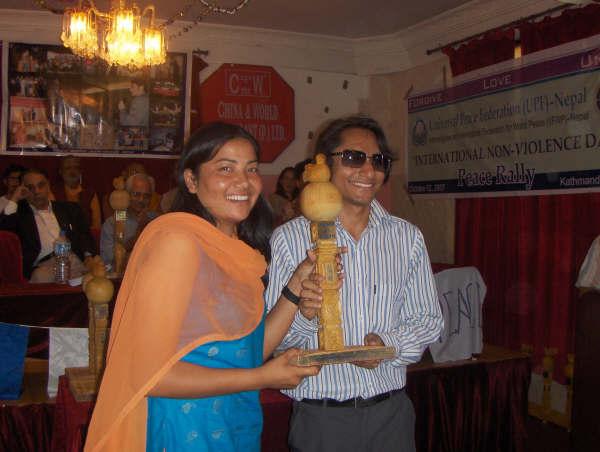 Spreading Peace in Nepal-October 2, 2007