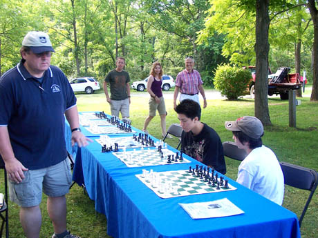 Chess GrandMaster Al Lawrence played a chess simul throughout the day.