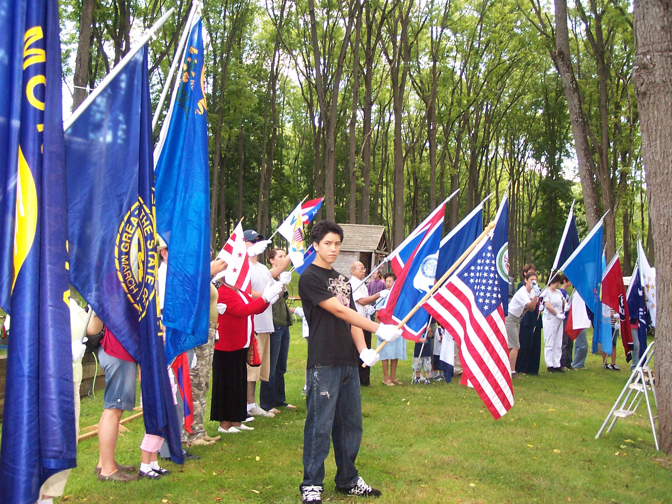 Participants in the United States Flag Ceremony.