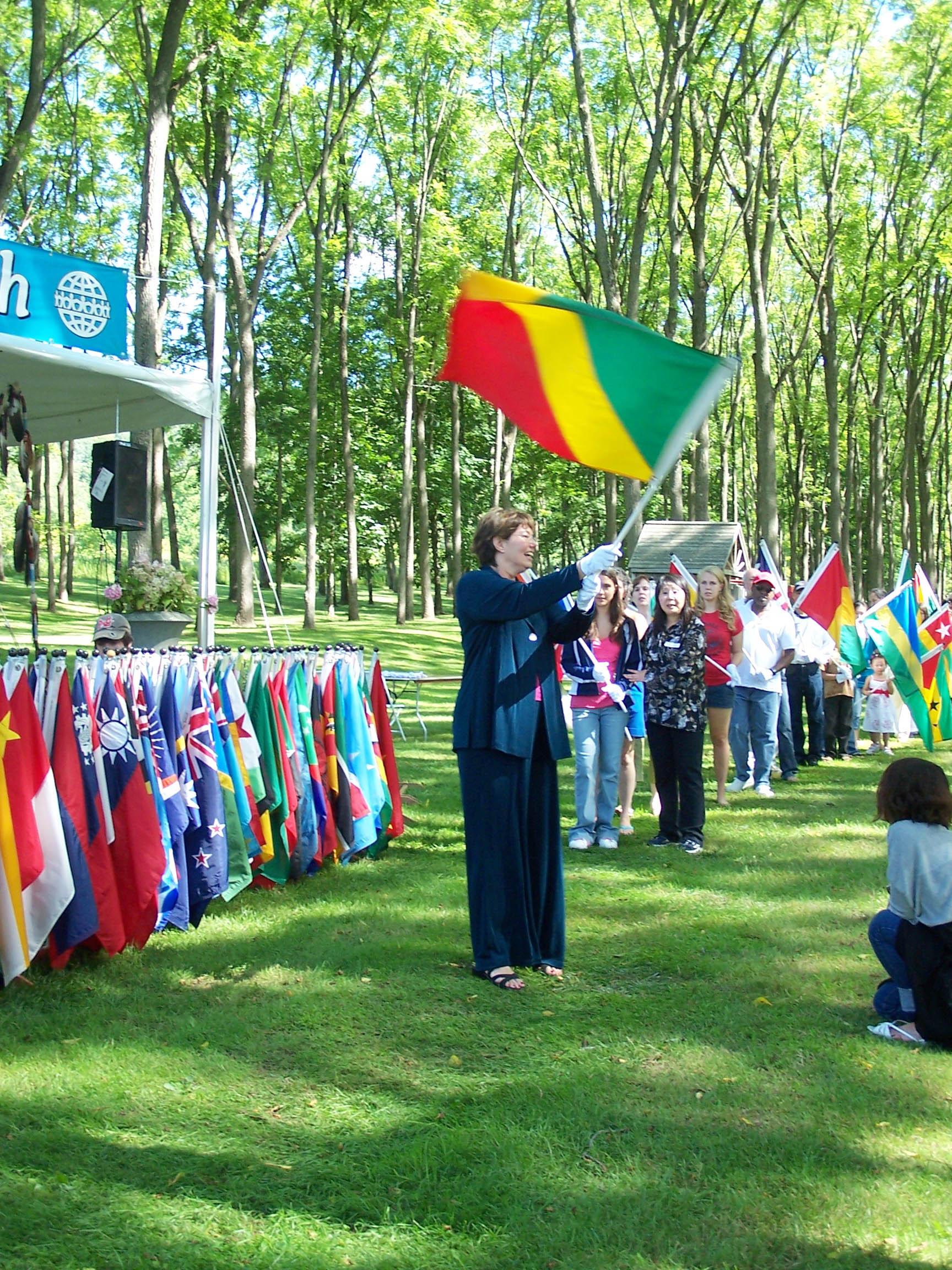 The World Peace Prayer Flag Ceremony.