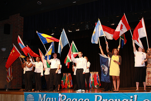 The Beacon Gala events ends with a World Peace Flag Ceremony.