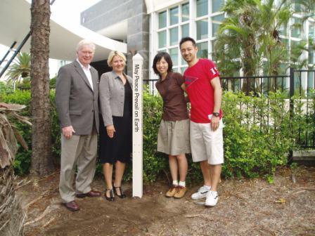 Left to Right:General Managers: Mr. Donald J. Cox & Ms. Kristy Marland, Junko and Yashio Mochizuki