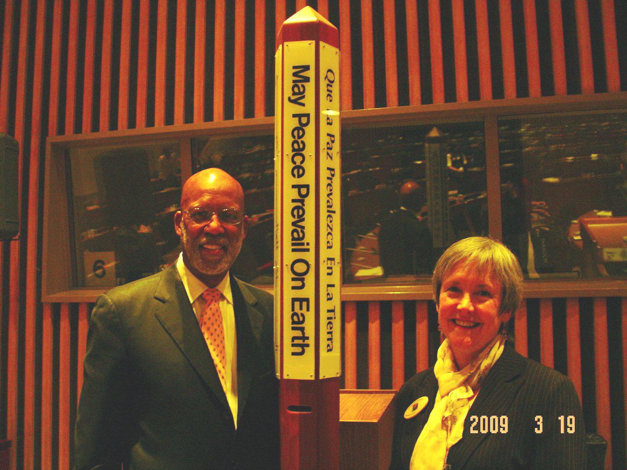 Dr. Terrence Roberts of The Little Rock Nine with Deborah Moldow, WPPS-UN Representative