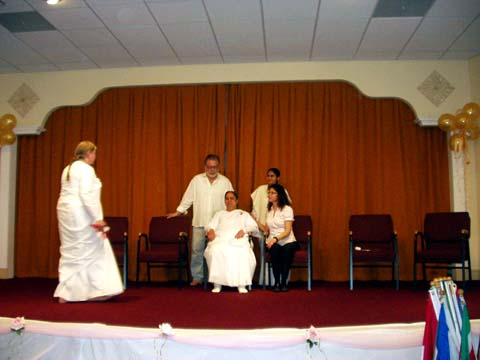 WPPS, Ann Marie Williams with Sr. Mohini (center), Spiritual Leader & President of Brahma Kumaris in North and South America and The Caribbean Islands
