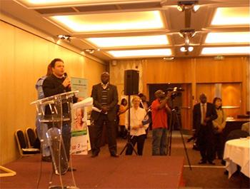 Patrick Petit of The Goi Peace Foundation led the World Peace Flag Ceremony.