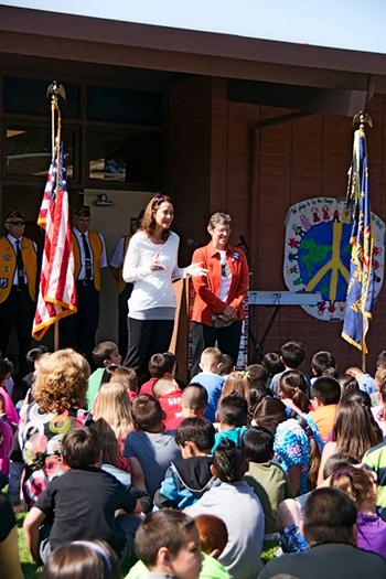 Peace-Pole-Dedication-at-Burchfield-Primary-School-Colusa,-California-USA_01