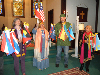 WORLD-PEACE-PRAYER-CEREMONY-AT-THE-CHAPEL-AT-CROTON-FALLS,-NY-USA