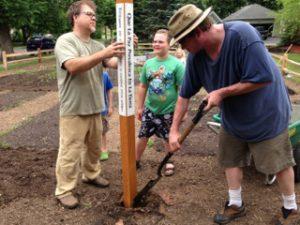 Corcoran-Community-Garden-Peace-Pole-planting-Minnesota-USA_02