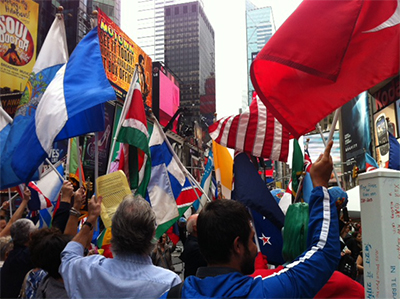 Flags in Times Sq dm