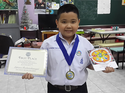 Laptawi Rachatathamagul - 7 years old - First Place Winner.