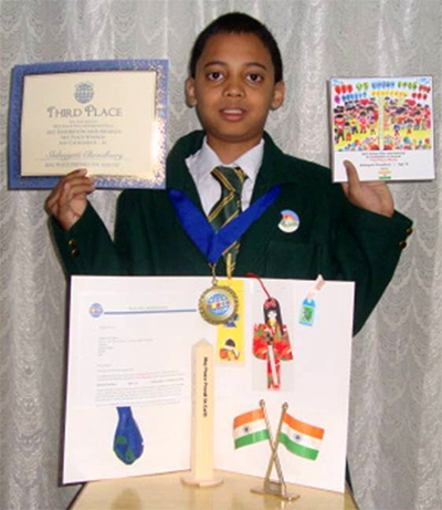 Shibajyoti Choudhury - Age 10 - India - Third Place Winner.