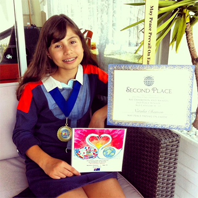 Natalia Chamon age 10 of Australia - Second Place Winner.