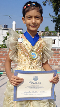 Maysha Mahfuz Medha age 6 from Bangladesh