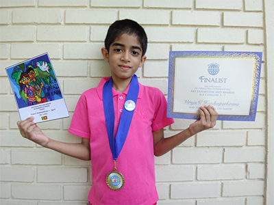 Viruja V. Handunpathirana Age 6 From Sri Lanka - Finalist