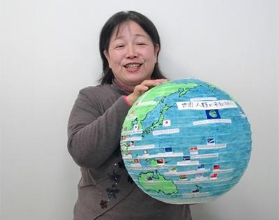 Ms.-Yuriko-Kaneda_Flag-Globe-01