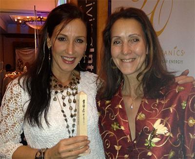 Winning author Diana Stobo with Fumi Johns Stewart