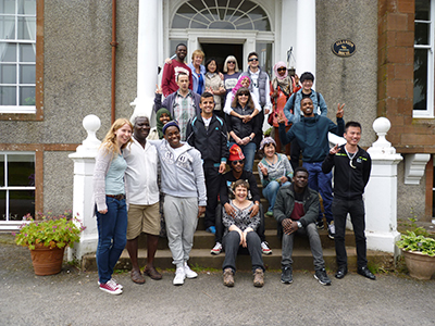 Refugees-from-Anniesland-College-Glasgow-Allanton-Sanctuary-Auldgirth-Dumfrieshhire-SCOTLAND-UK_03