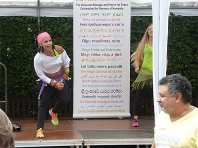 Zumba dance and peace go well together!