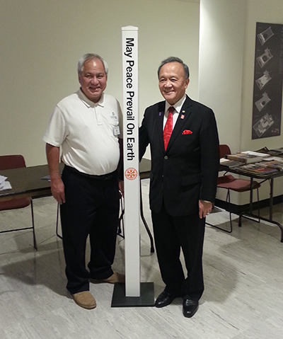 Rotary International President, Gary Huang (right) with Dennis Wong, Westport Sunrise Rotary Club, Westport, CT