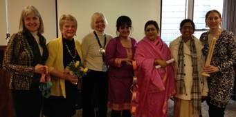 Panelists:  Deborah Moldow, Monica Willard, Ann Smith, Kiran Bali,  H.E. Amma Sri Karunamayi, (Akkaya, friend of Amma), Denise Scotto