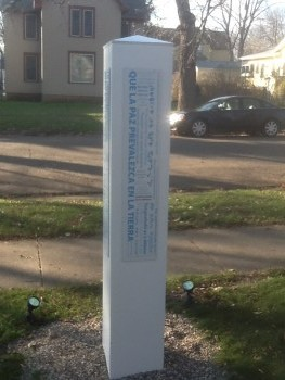 Peace Pole Little Free Library 1