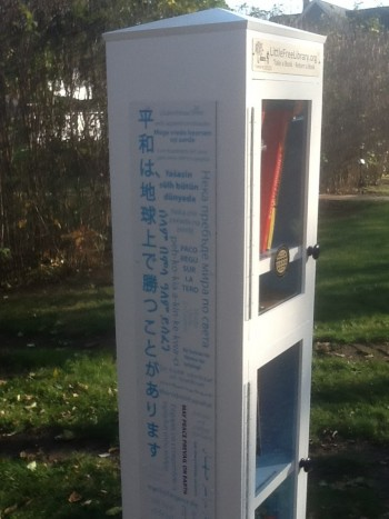 Peace Pole Little Free Library 4