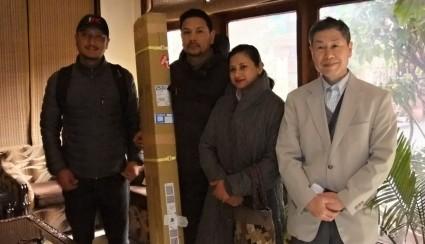 Mr. Smeet Lama, Mr. & Mrs. Thapa and Mr. Mitsuru Ooba