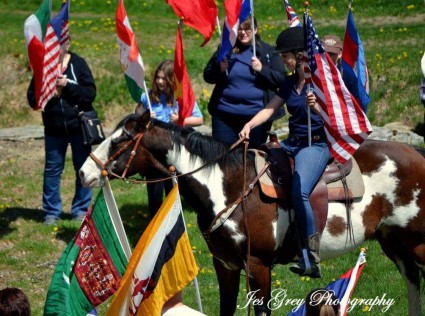 LOHRF horse and flags