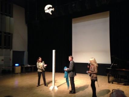 Peace Pole presented to Mayor Kim Valentin of Gilleleje