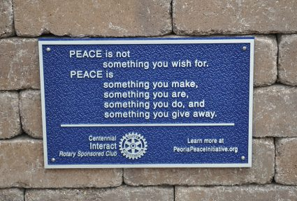 The inscription on the plaque contains words from author Robert Fulgham