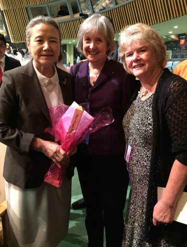 Mrs. Ban, Rev. Deborah Muldow & Monica Willard (from left to right)
