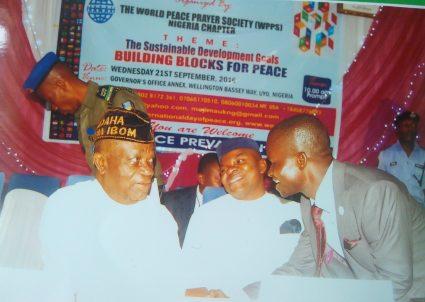 Mojima Etokudo, WPPS Representative in Nigeria (on right)