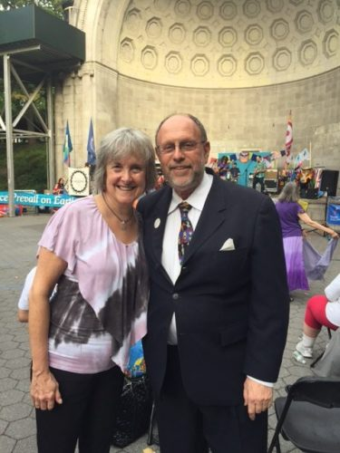 Rev. Deborah Muldow and Paul Sladkus
