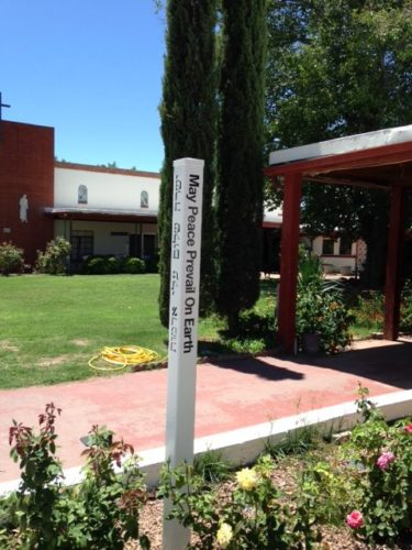 Peace Pole at Chapel Retreat Center, Mesilla Park, State of New Mexico-USA