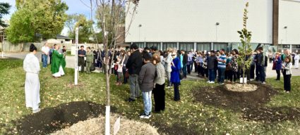 Peace Pole Dedication Ceremony in conjunction with the Tree Planting Project-Winnipeg, Manitoba-CANADA