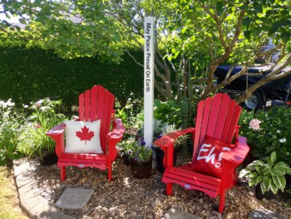 Peace Pole planted in celebration of the 150th Anniversary of CANADA