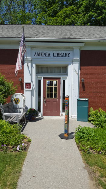 Peace Pole at the Amenia Strawberry Festival 2017-Amenia, NY-USA