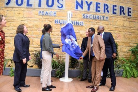 African Union Commissioner for Peace and Security accepts Peace Pole – Addis Ababa, Ethiopia