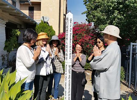 Ban Ya Temple plants Peace Pole – Korean Town, Los Angeles, CA – USA
