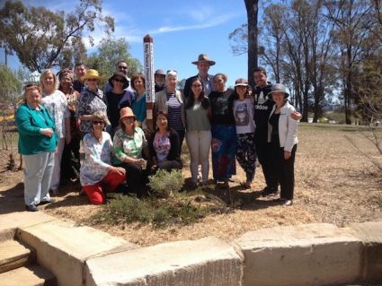 Peace Pole Planted in Warwick's Peace Garden – Queensland, Australia