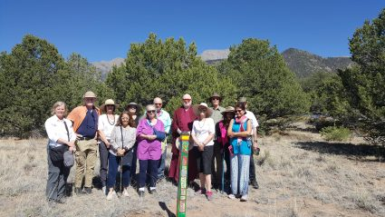 The Great Middle Way Buddhist Association plants Peace Pole in honor of IDP in Crestone, CO USA