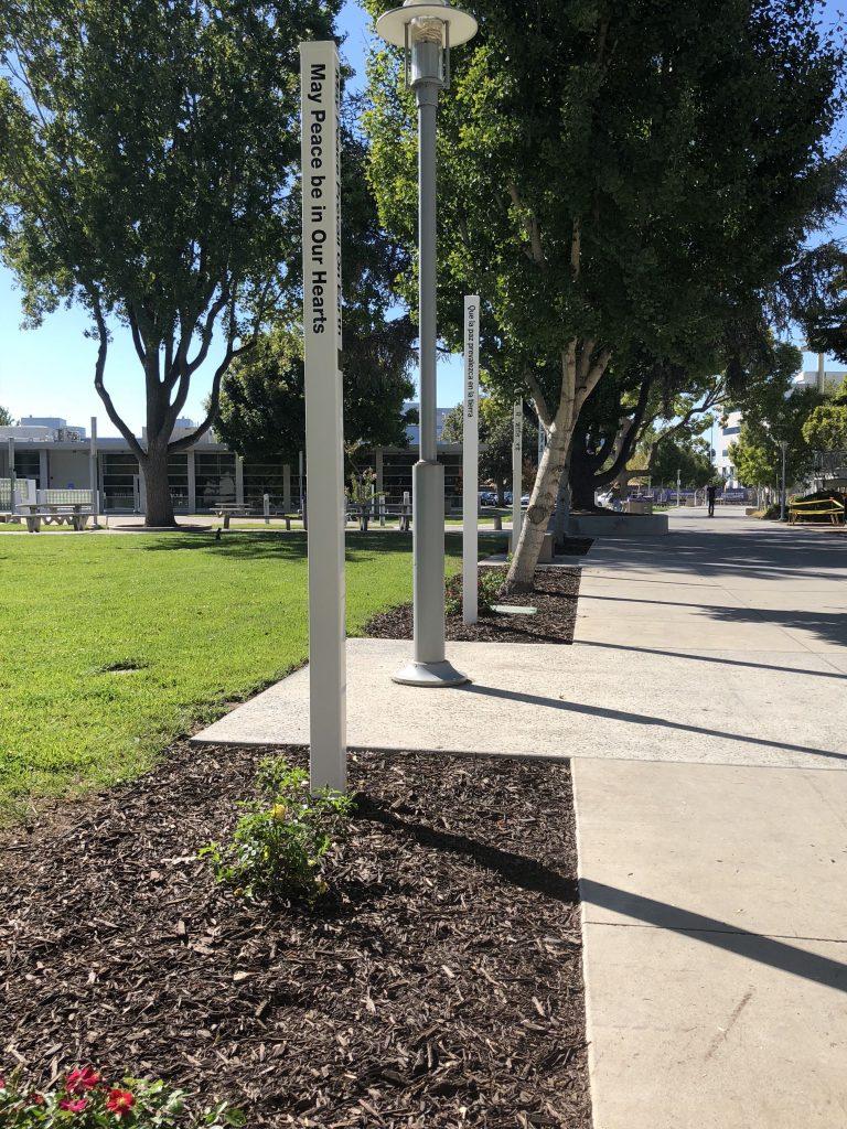 San Jose City College's annual Peace Pole Planting for International Day of Peace, San Jose, CA, USA