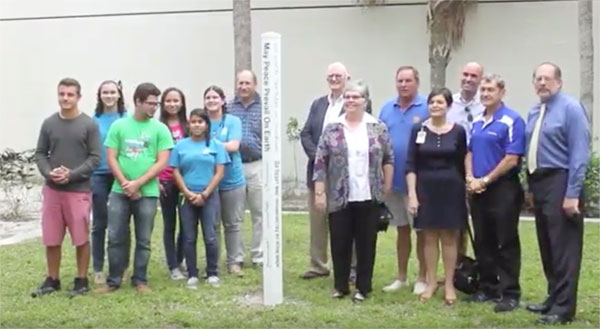 Wellington High School Peace Pole Dedication