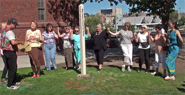 May Peace Prevail on Earth. A Peace Pole Dedication Ceremony.
