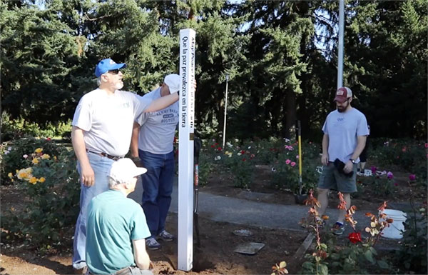 Rotary Club of Vancouver Sunrise Installs Peace Pole