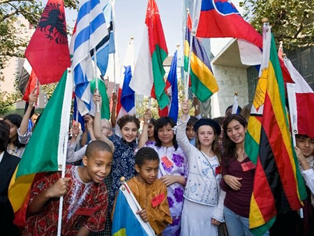 youth may peace prevail on earth flags un