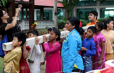Peace Pole for International Day of Peace, Kuala Lumpur, Malaysia
