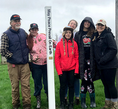 Earth Day Celebration with Peace Pole at McEnroe Farm, Northeast, NY
