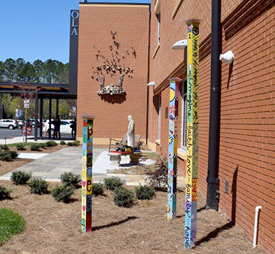 Our Lady of the Assumptions School Teaches Living Values Through Peace Poles, Atlanta, Georgia